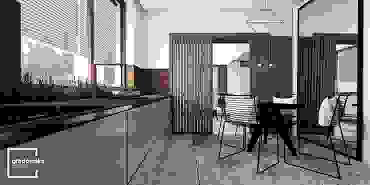 Cozinhas ecléticas por Gradomska Architekci - Interiors Eclético