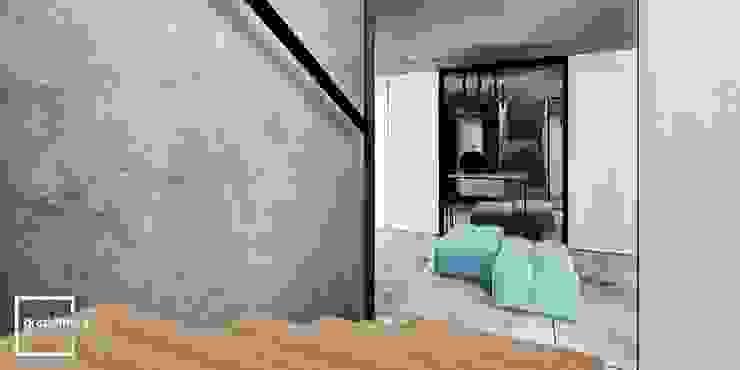 Corredores, halls e escadas ecléticos por Gradomska Architekci - Interiors Eclético