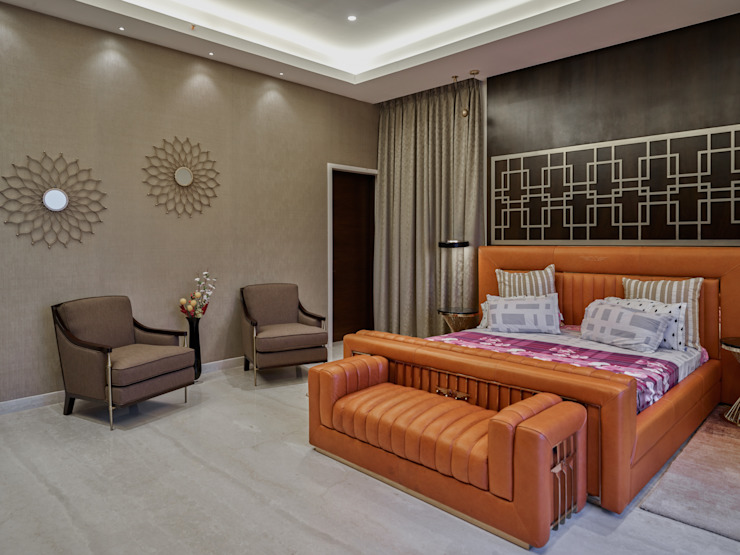 CROWN AURA KEJRIWAL RESIDENCE | BANGALORE Modern Bedroom by DUTTA KANNAN & PARTNERS Modern Marble