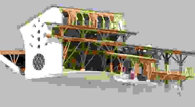 "Diseño ""tradicional"" de Hauzer Arquitectura Tropical Bambú Verde"