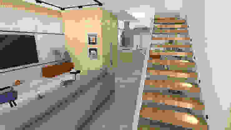 Projeto para Casa de Conteiner Salas de estar modernas por ZOMA Arquitetura Moderno