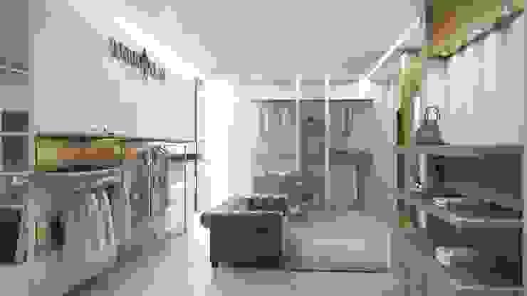 restyling negozio di abbigliamento Negozi & Locali commerciali moderni di Lascia la Scia S.n.c. Moderno Legno Effetto legno