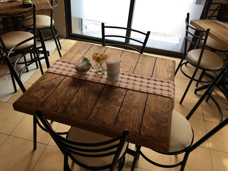 Mobiliario, Cafetería María Dulzura CONCEPTO JORU ComedorMesas