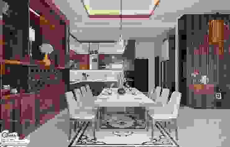 Mẫu tủ bếp gỗ Óc chó uma cao cấp nhất bởi Nội Thất UMA