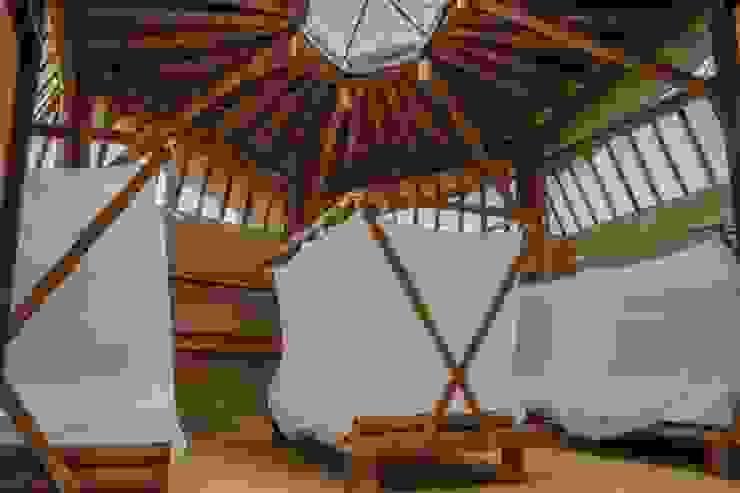 La luz como elemento principal de Hauzer Arquitectura Tropical Bambú Verde