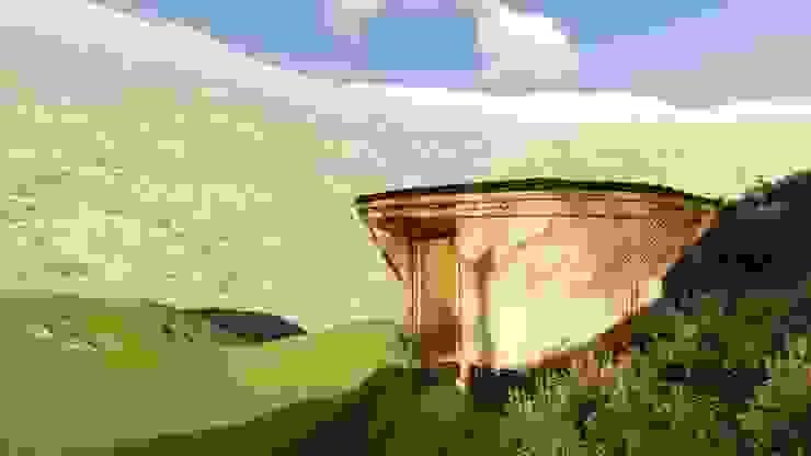 Protección al entorno de Hauzer Arquitectura Tropical Bambú Verde