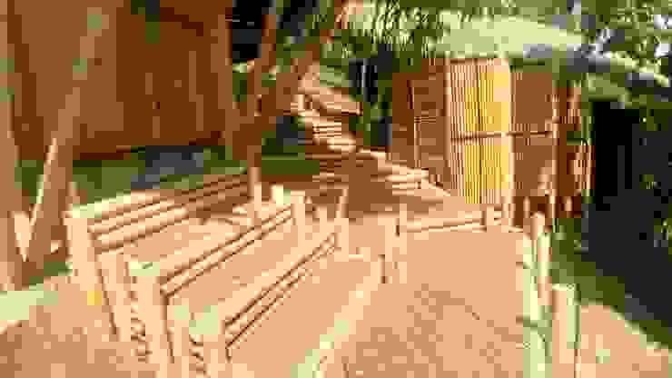 Conectividad de Hauzer Arquitectura Tropical Bambú Verde