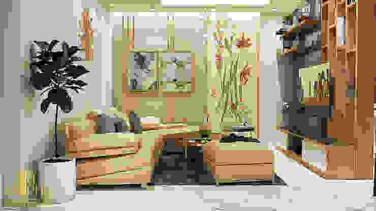 Thiết kế nội thất căn hộ chị anh Trình- Chương Dương: hiện đại  by AN PHÚ DESIGN & BUILD, Hiện đại