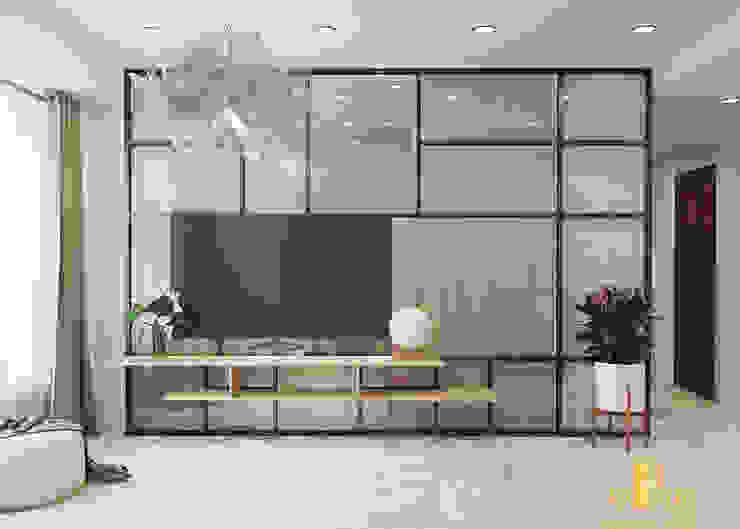 Thiết kế nội thất căn hộ chị Loan - Rivergate: hiện đại  by AN PHÚ DESIGN & BUILD, Hiện đại