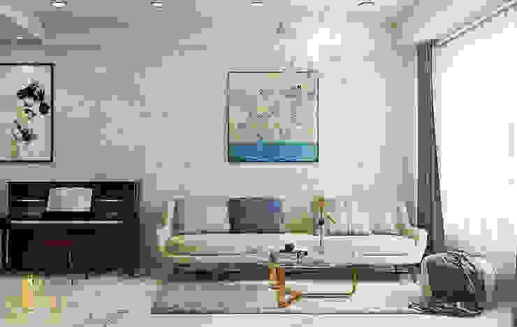 Thiết kế nội thất căn hộ chị Loan – Rivergate: hiện đại  by AN PHÚ DESIGN & BUILD, Hiện đại