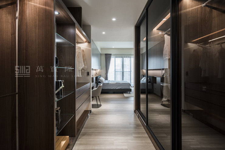Scandinavian style dressing room by SING萬寶隆空間設計 Scandinavian