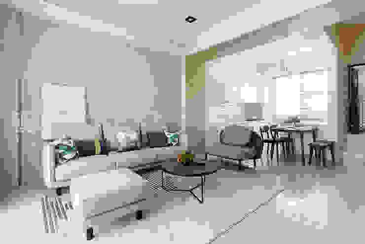 【呈豐建築 │ 呈豐日日11期】 现代客厅設計點子、靈感 & 圖片 根據 SING萬寶隆空間設計 現代風
