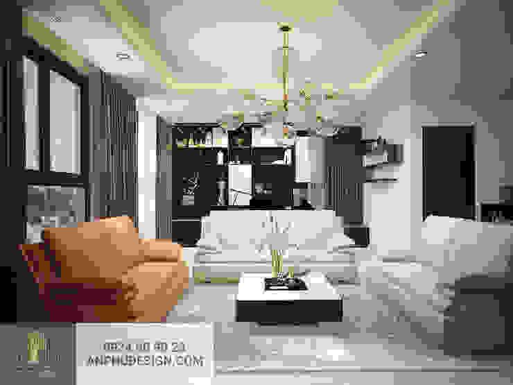 Thiết kế nội thất căn hộ anh Sơn - Kingston Phú Nhuận bởi AN PHÚ DESIGN & BUILD