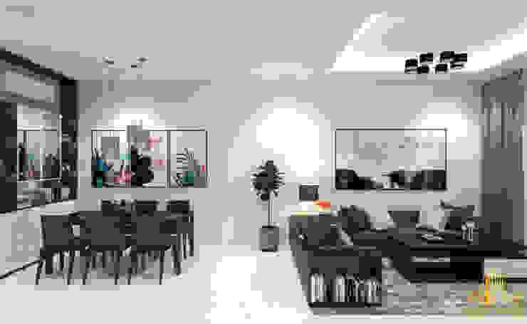 Thiết kế nội thất căn hộ anh Tuấn Canary Bình Dương bởi AN PHÚ DESIGN & BUILD