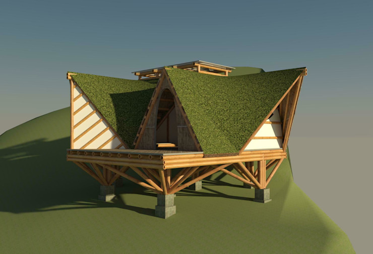 by Hauzer Arquitectura Tropical Bamboo Green