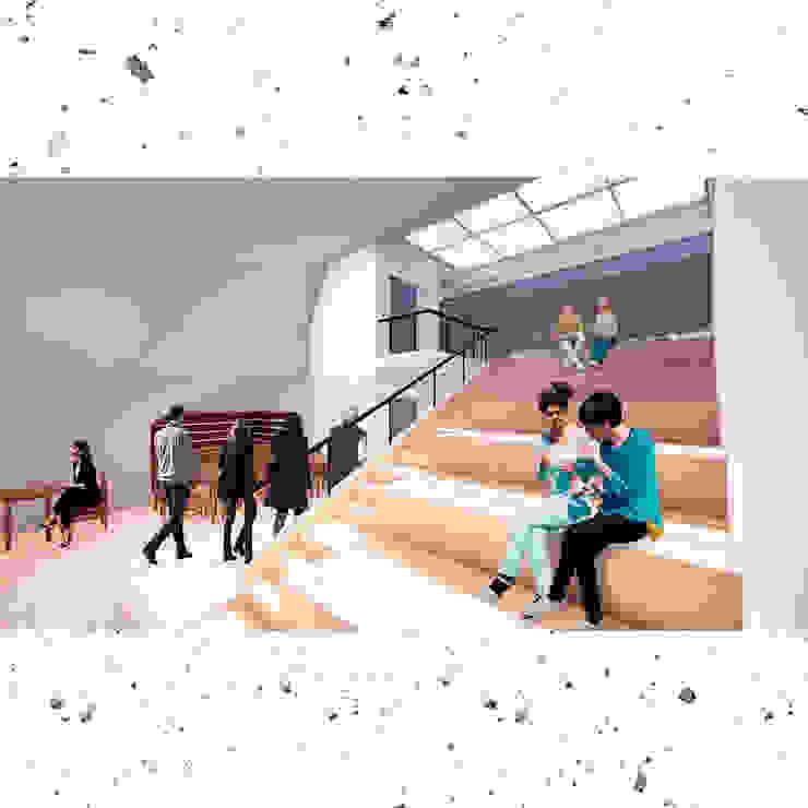 CQFA Pasillos, vestíbulos y escaleras minimalistas de Frank Maguiña Arquitectos Minimalista
