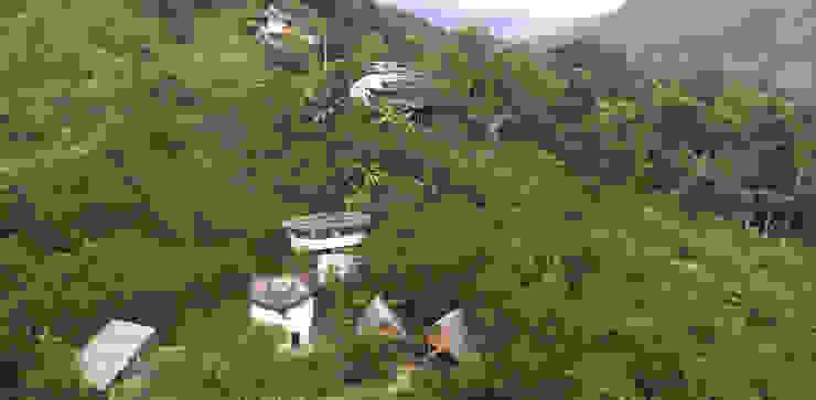 Respeto por la naturaleza de Hauzer Arquitectura Rural Bambú Verde