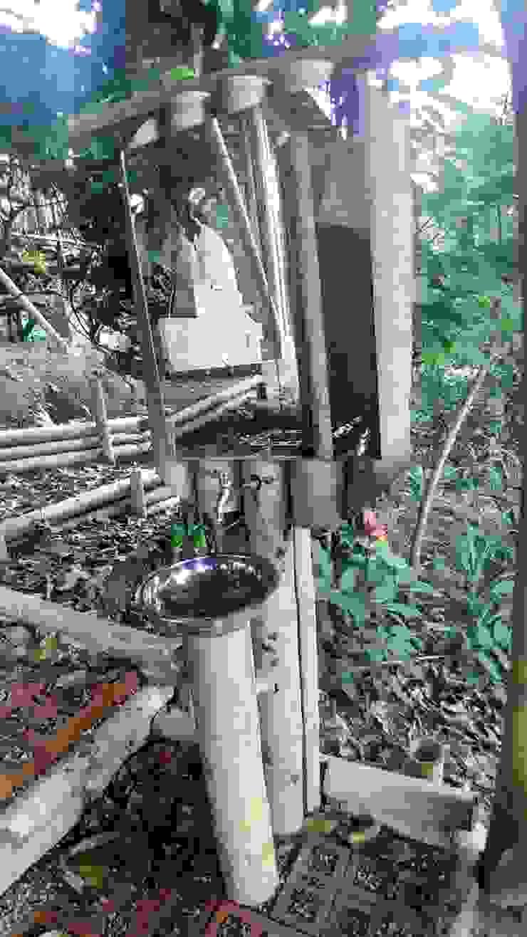 Módulo de lavamanos exteriores de Hauzer Arquitectura Rústico Bambú Verde