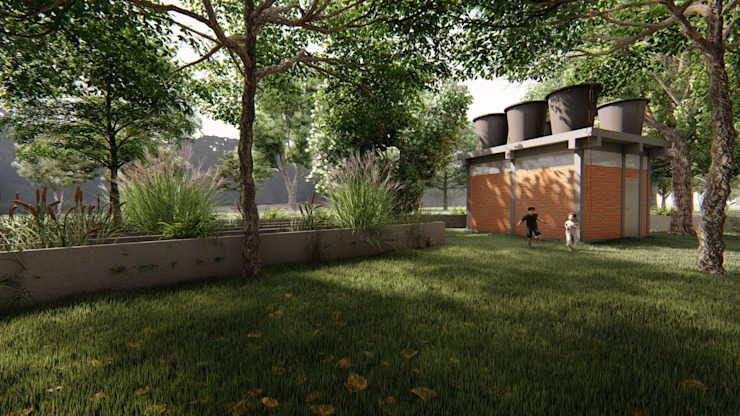 Consumo cero Bodegas de estilo tropical de Hauzer Arquitectura Tropical Ladrillos