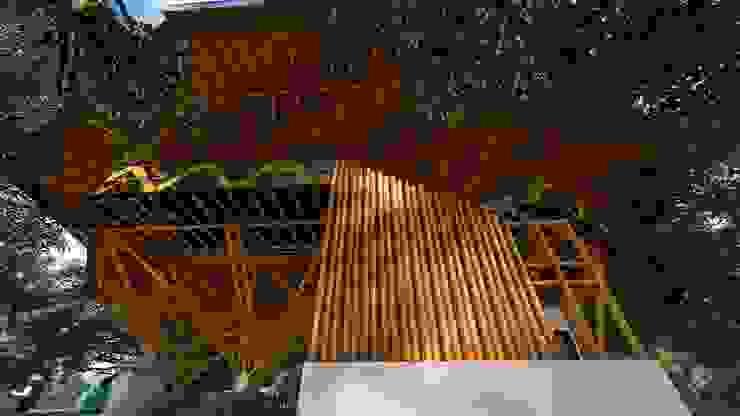Circulaciones generosas de Hauzer Arquitectura Tropical Bambú Verde