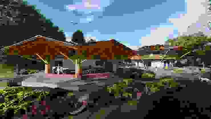 Diseño innovador de Hauzer Arquitectura Tropical Bambú Verde