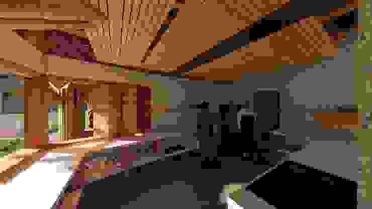 Espacios dimensionados de Hauzer Arquitectura Tropical Bambú Verde