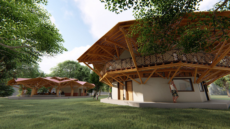 Hito de Hauzer Arquitectura Tropical Bambú Verde