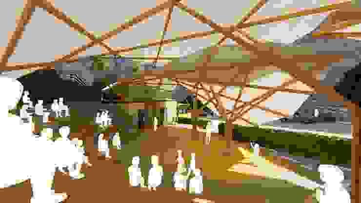 Diseño orgánico de Hauzer Arquitectura Moderno Bambú Verde