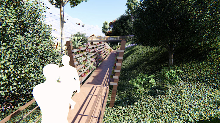 Contacto con la naturaleza de Hauzer Arquitectura Moderno Madera Acabado en madera