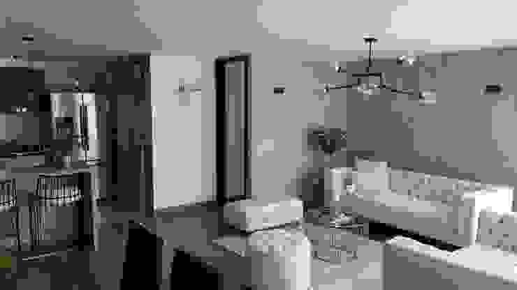 SALA - COMEDOR Comedores de estilo minimalista de Par Arquitectura Minimalista