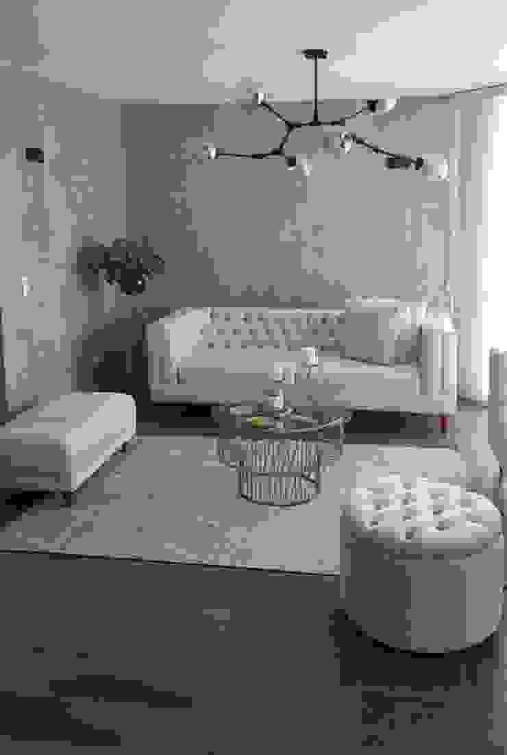 SALA Paredes y pisos de estilo minimalista de Par Arquitectura Minimalista