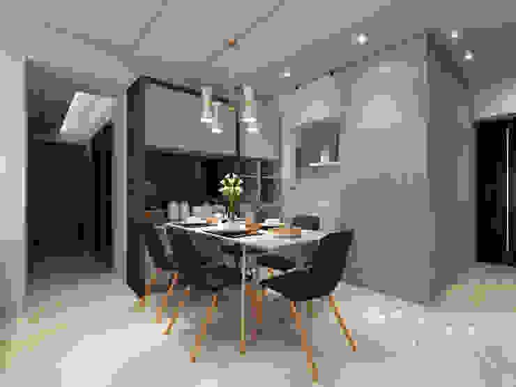 餐廳/現代風 根據 木博士團隊/動念室內設計制作 現代風