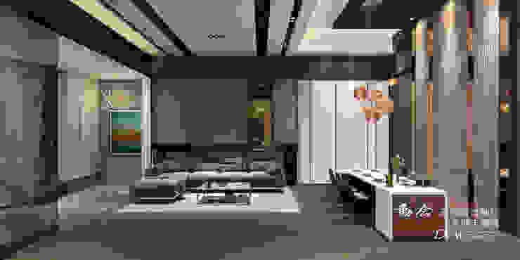 客廳/餐廳/天花板/木地板/現代風 现代客厅設計點子、靈感 & 圖片 根據 木博士團隊/動念室內設計制作 現代風