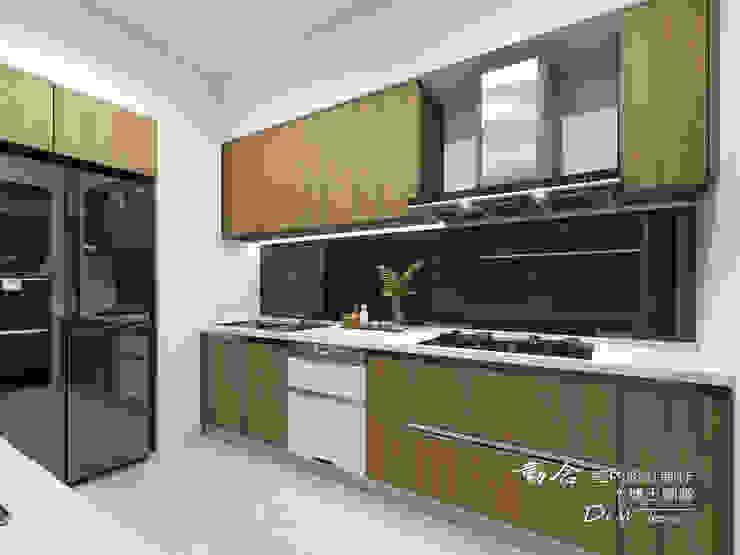 廚房/歐式系統櫃/人造石/現代風 現代廚房設計點子、靈感&圖片 根據 木博士團隊/動念室內設計制作 現代風