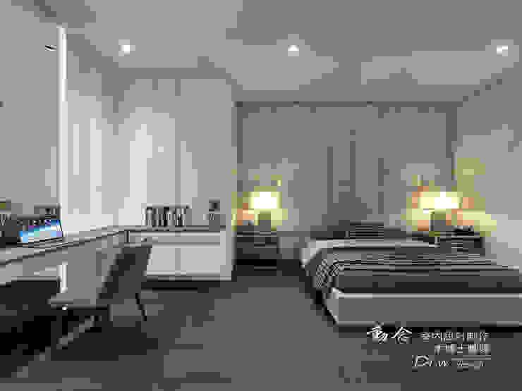 主臥/書桌/收納櫃/木地板/現代風 根據 木博士團隊/動念室內設計制作 現代風