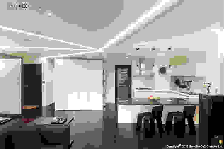 廚房與吧檯 現代廚房設計點子、靈感&圖片 根據 光合作用設計有限公司 現代風