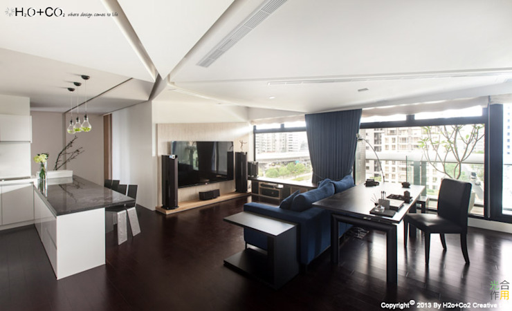 Diamand 现代客厅設計點子、靈感 & 圖片 根據 光合作用設計有限公司 現代風
