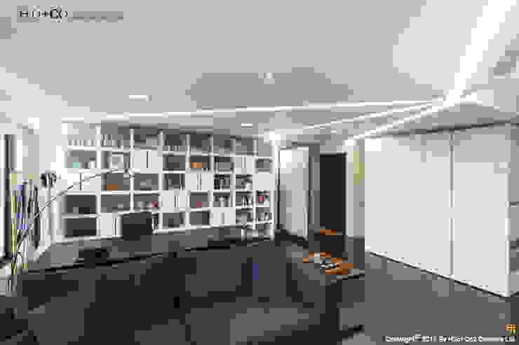 入口玄關 現代風玄關、走廊與階梯 根據 光合作用設計有限公司 現代風