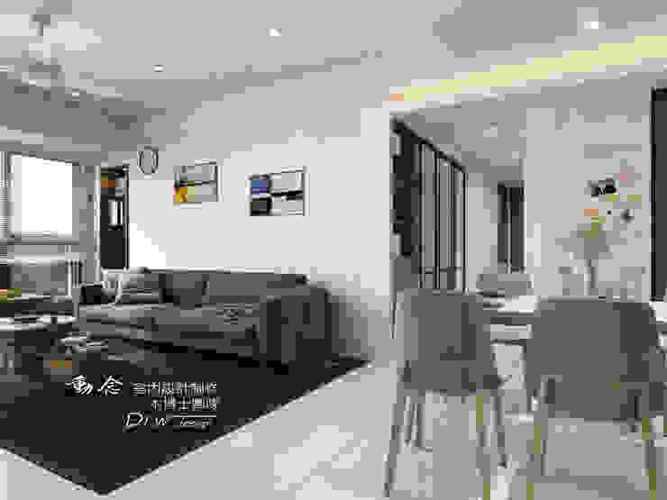 客廳/餐廳/人造石/大理石/現代風 现代客厅設計點子、靈感 & 圖片 根據 木博士團隊/動念室內設計制作 現代風