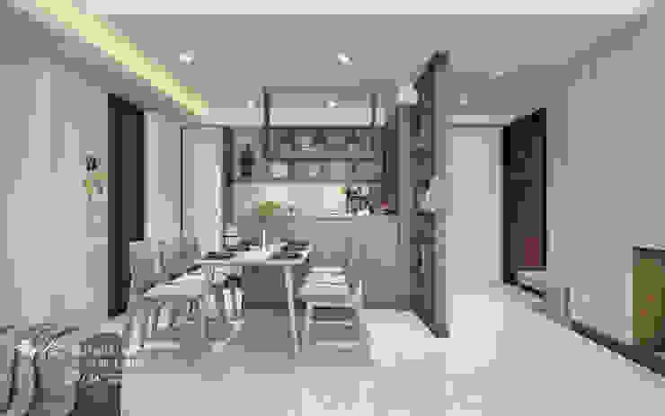 餐廳/歐式系統櫃/大理石/現代風 根據 木博士團隊/動念室內設計制作 現代風