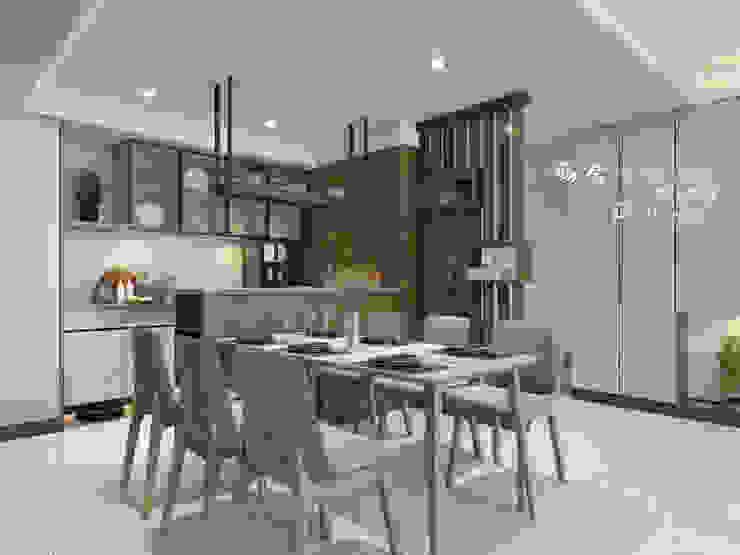 Salas de jantar modernas por 木博士團隊/動念室內設計制作 Moderno