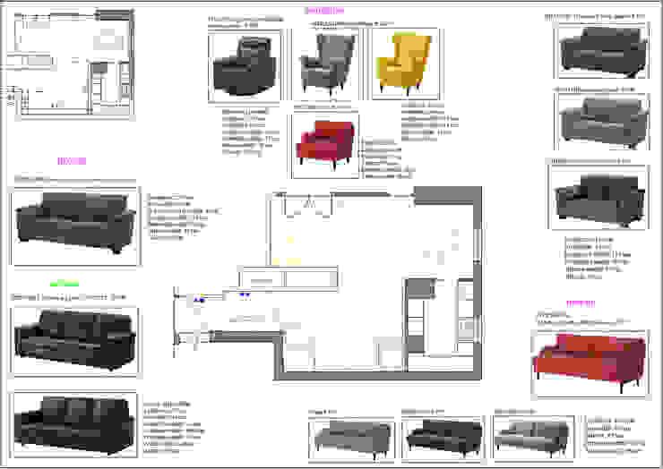 Mood Board Sedute Soggiorno moderno di antonio felicetti architettura & interior design Moderno Laterizio