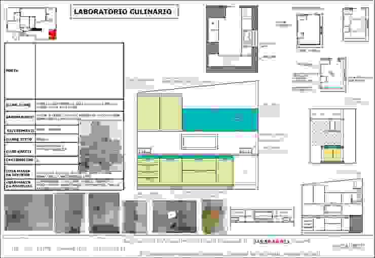 Disegni esecutivi cucina di antonio felicetti architettura & interior design Moderno
