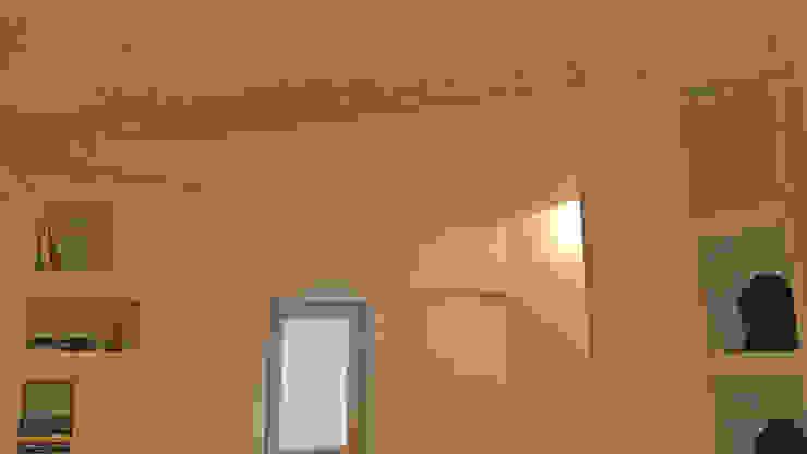 Dettaglio illuminazione controsoffitto Soggiorno moderno di antonio felicetti architettura & interior design Moderno Cemento