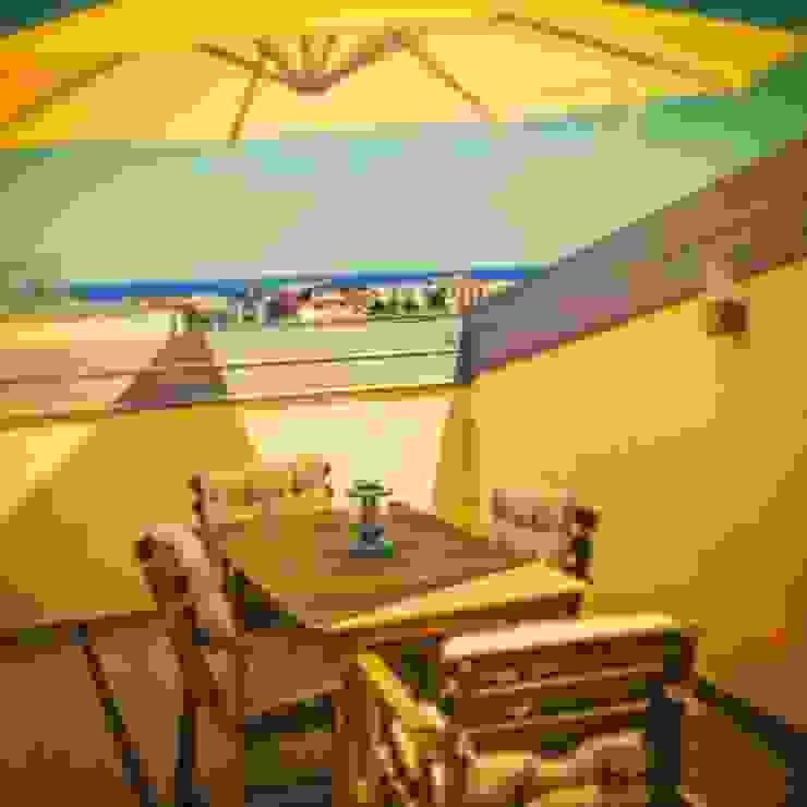 Terrazza Balcone, Veranda & Terrazza in stile moderno di antonio felicetti architettura & interior design Moderno Cemento