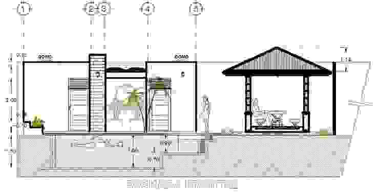 Vintark arquitectura Garden Pool Reinforced concrete Blue