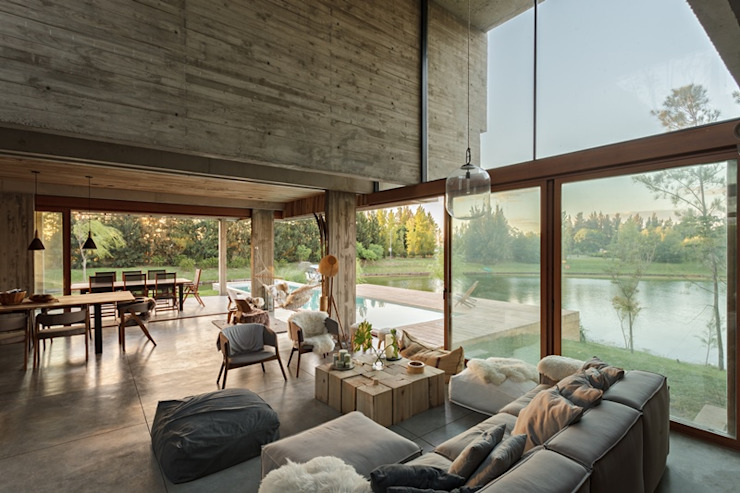 Casa Cudich - Drago Salones escandinavos de ATV Arquitectos Escandinavo