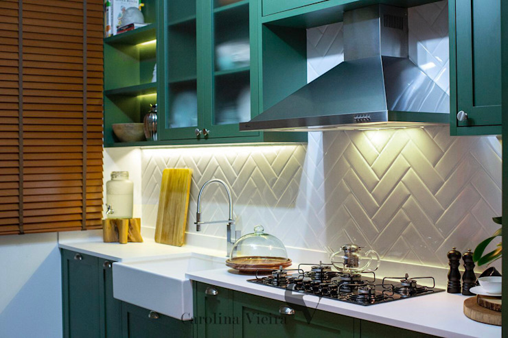 Cozinha Verde CAROLINA VIEIRA Cozinhas embutidas MDF Verde