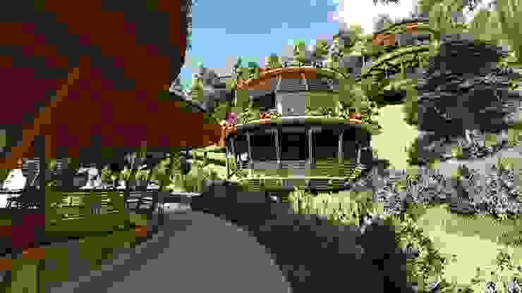 Los niños son el centro del proyecto de Hauzer Arquitectura Moderno Bambú Verde