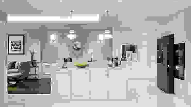 Thiết kế nội thất căn hộ Hado Centrosa Garden: Đẳng cấp cùng phong cách Tân cổ điển Nhà bếp phong cách kinh điển bởi SHINE DESIGN Kinh điển